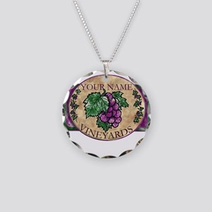 Your Vineyard Necklace Circle Charm