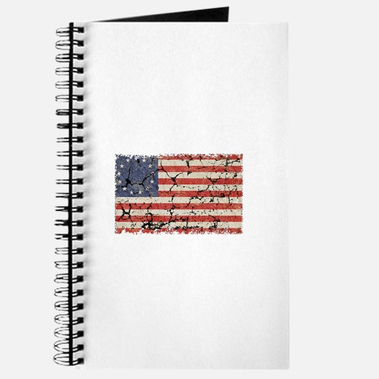 13 Colonies US Flag Distresse Journal