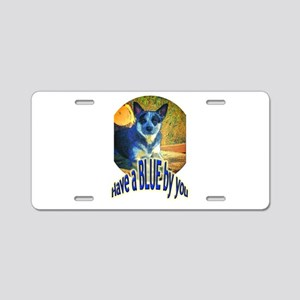 """Blue By You"" Aluminum License Plate"