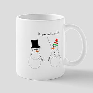 Snowman Smells Carrots Mug