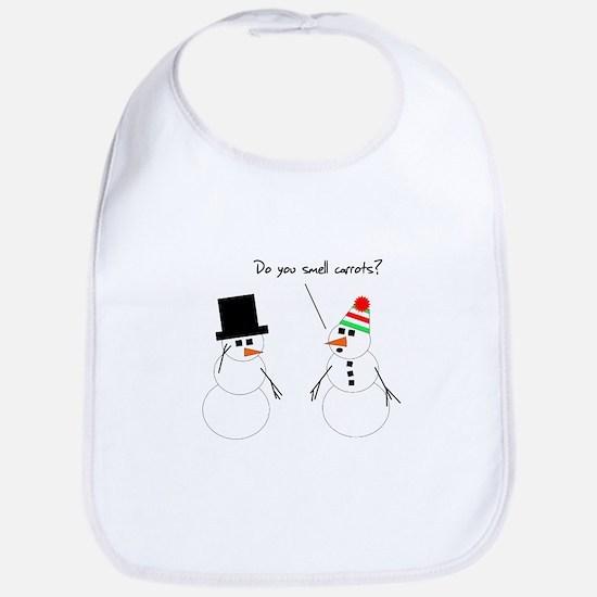 Snowman Smells Carrots Bib