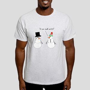 Snowman Smells Carrots Light T-Shirt