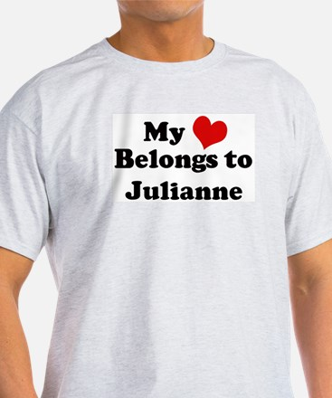 My Heart: Julianne Ash Grey T-Shirt
