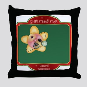 Whoa Star - Christmas Star Throw Pillow