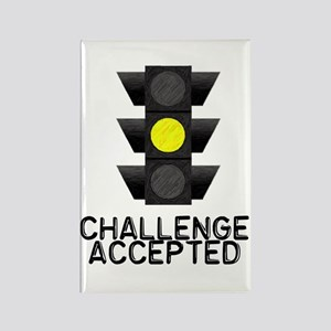 Challenge Accepted Yellow Lig Rectangle Magnet