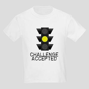 Challenge Accepted Yellow Lig Kids Light T-Shirt