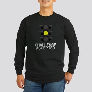 Challenge Accepted Yellow Lig Long Sleeve Dark T-S