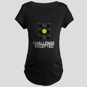 Challenge Accepted Yellow Lig Maternity Dark T-Shi