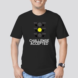 Challenge Accepted Yellow Lig Men's Fitted T-Shirt