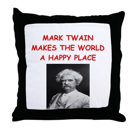 mark twain Throw Pillow