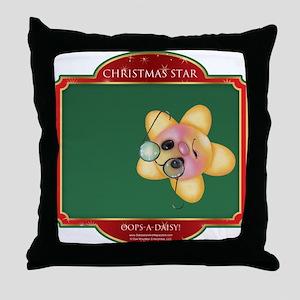 Opps-a-daisy / Christmas Star Throw Pillow