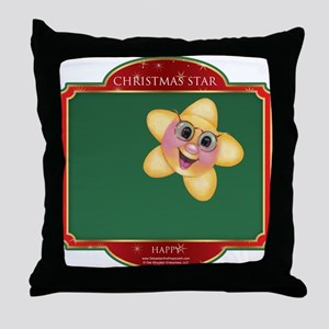 Happy Star - Christmas Star Throw Pillow