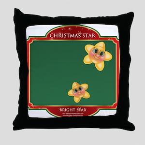 Bright Stars - Christmas Star Throw Pillow