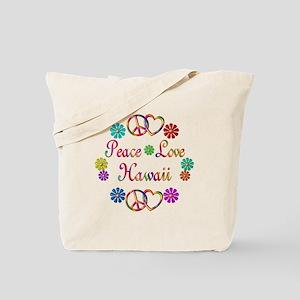 Peace Love Hawaii Tote Bag