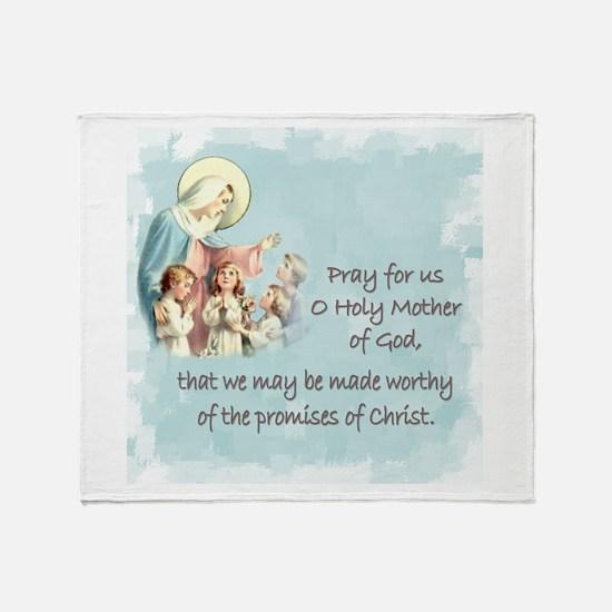 Pray for Us Throw Blanket