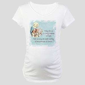 Pray for Us Maternity T-Shirt