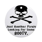 Pirate Looking For Booty Ornament (Round)
