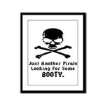 Pirate Looking For Booty Framed Panel Print