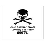 Pirate Looking For Booty Small Poster