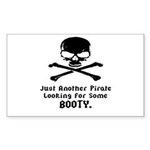 Pirate Looking For Booty Sticker (Rectangle 50 pk)