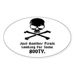 Pirate Looking For Booty Sticker (Oval 50 pk)