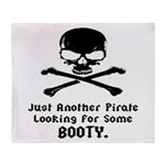 Pirate Looking For Booty Throw Blanket