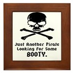 Pirate Looking For Booty Framed Tile