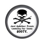 Pirate Looking For Booty Wall Clock