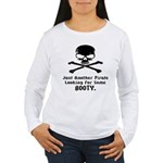 Pirate Looking For Booty Women's Long Sleeve T-Shi