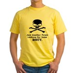 Pirate Looking For Booty Yellow T-Shirt
