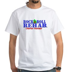 Rock & Roll Rehab Charter Member White T-Shirt