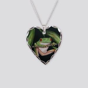 Fun Frog #3 Necklace Heart Charm