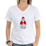 Grumpy Santa Women's V-Neck T-Shirt