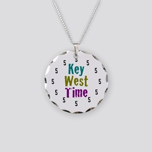 Key West Time Necklace Circle Charm