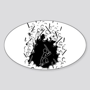 Ninja Showdown Sticker (Oval)