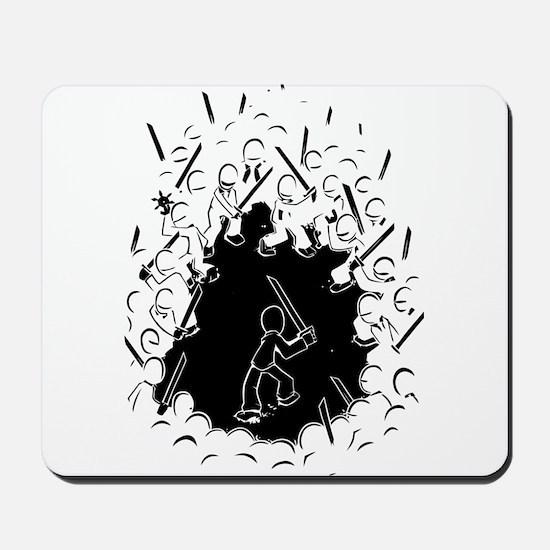 Ninja Showdown Mousepad