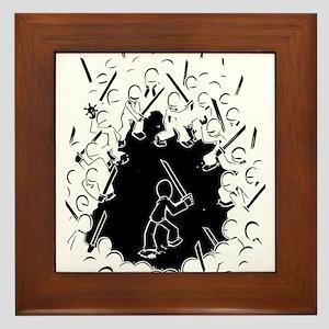 Ninja Showdown Framed Tile