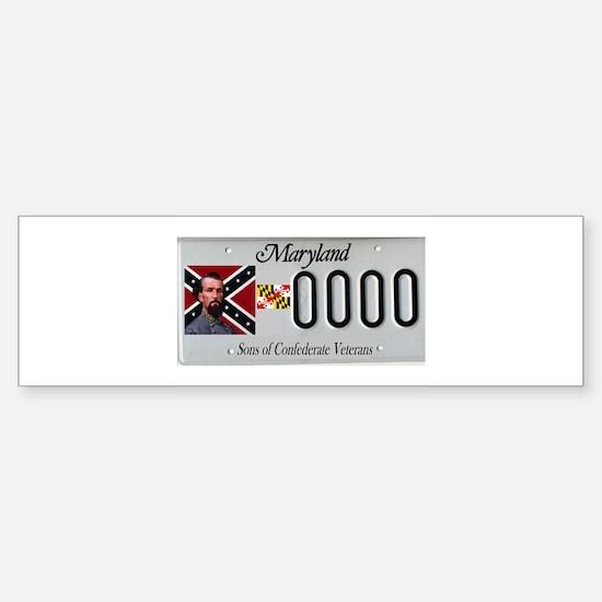 md. confederate tags Bumper Bumper Bumper Sticker