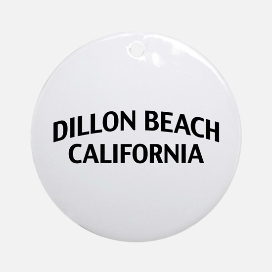 Dillon Beach California Ornament (Round)