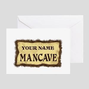 Mancave Sign Greeting Card