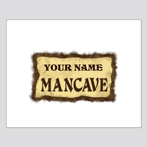 Mancave Sign Small Poster