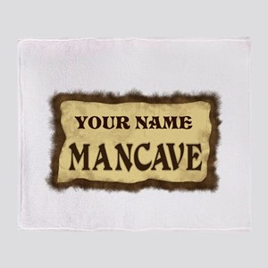 Mancave Sign Throw Blanket