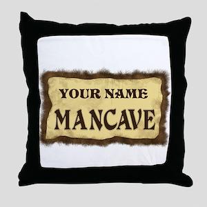 Mancave Sign Throw Pillow
