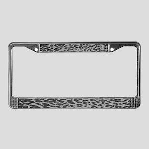 Gray Leopard Print License Plate Frame