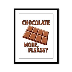 Chocolate - More Please? Framed Panel Print