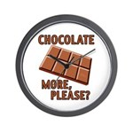 Chocolate - More Please? Wall Clock