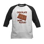 Chocolate - More Please? Kids Baseball Jersey