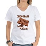 Chocolate - More Please? Women's V-Neck T-Shirt