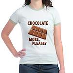 Chocolate - More Please? Jr. Ringer T-Shirt