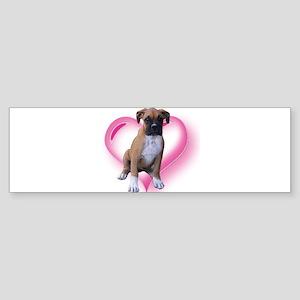 Heart Boxer Puppy Sticker (Bumper)